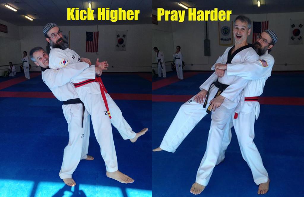 kick higher-prayharder
